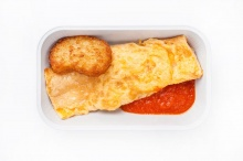 Omelet with hash brown