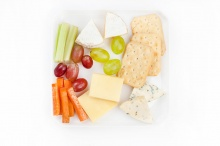 Cheese plate with crackers
